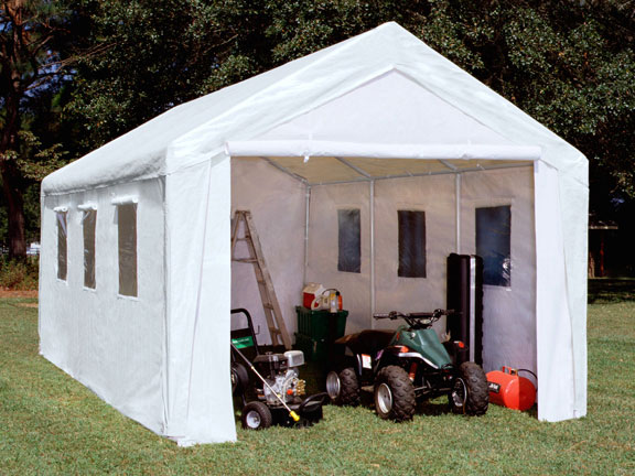 10 X 20 Enclosed Canopy with Windows