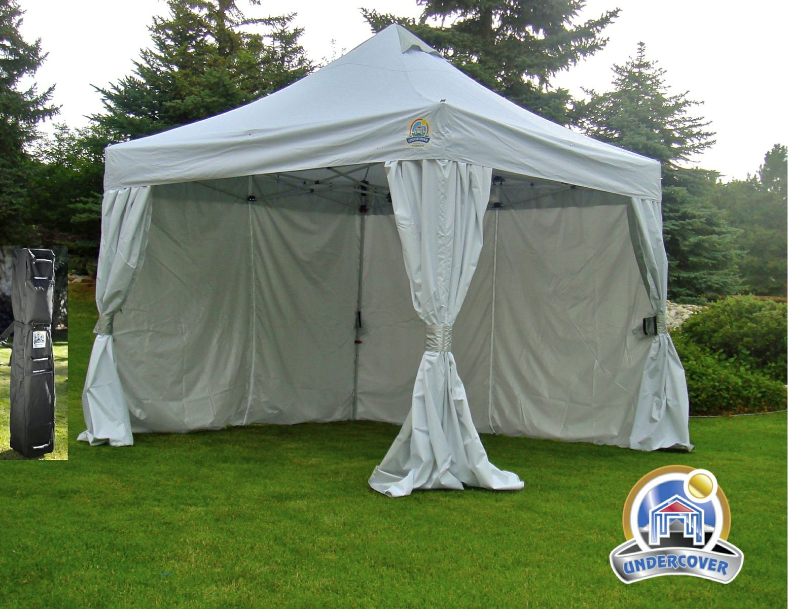 Undercover 10 X 10 Pop-Up w CRS Polyester Wall Enclosure