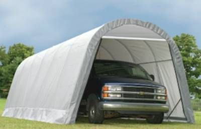 12' X 28' X 10' Round Style Extended Garage