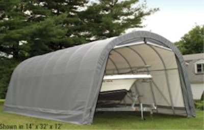 14' X 28' X 12' Round Style Extended Garage