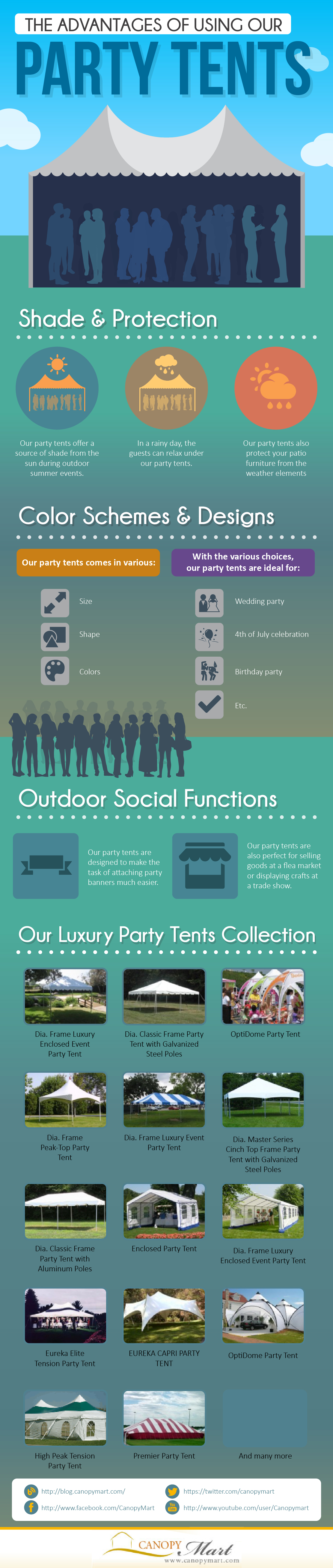Canopy Mart: The Advantages of Using Our Party Tents