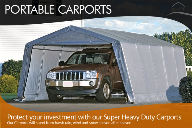 Portable Carports ... & Outdoor Canopies - Pop Up Canopy Portable Shade Carports ...