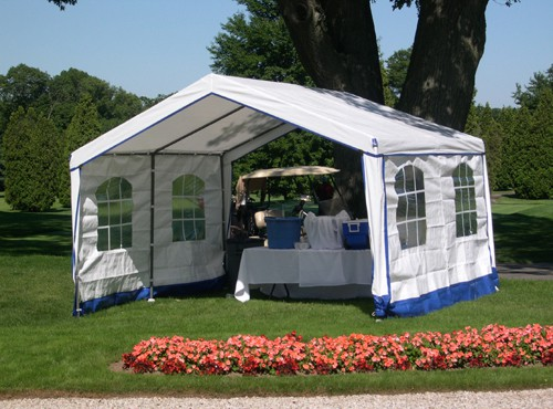 Decorative Style 14' X 14' Enclosed Party Tent