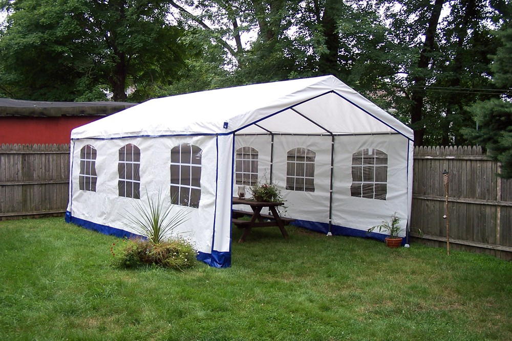 Decorative Style 14 X 20 Enclosed Party Tent