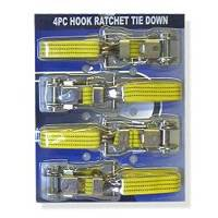 15ft RACHET TIE DOWN WITH HEAVY DUTY HOOK FOR CANOPY