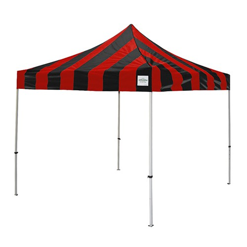 Caravan Display Shade 10' X 10' with Carnival Stripe Top/ 11 Color Choices