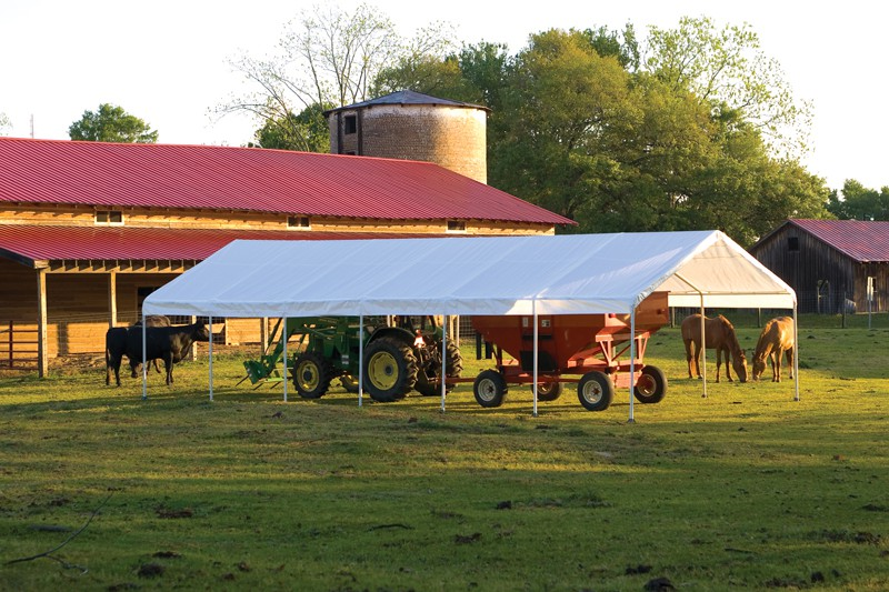 """18' X 40' / 2"""" Commercial Valanced Canopy"""
