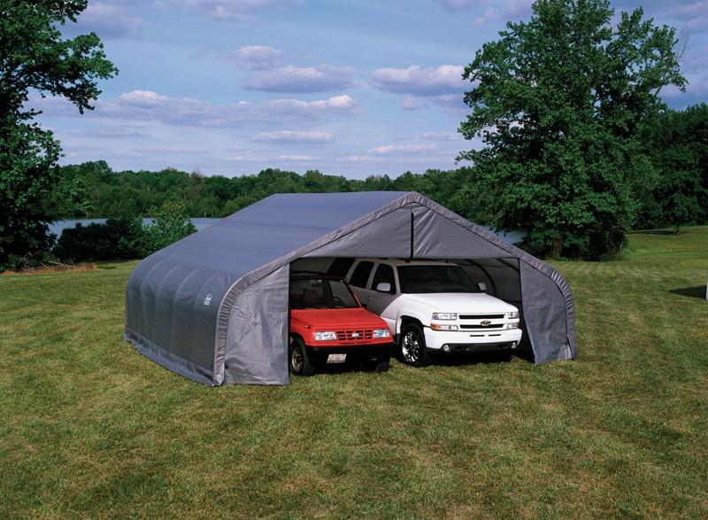 "22' X 20' X 13' / 2 3/8"" Peak Style Portable Garage"