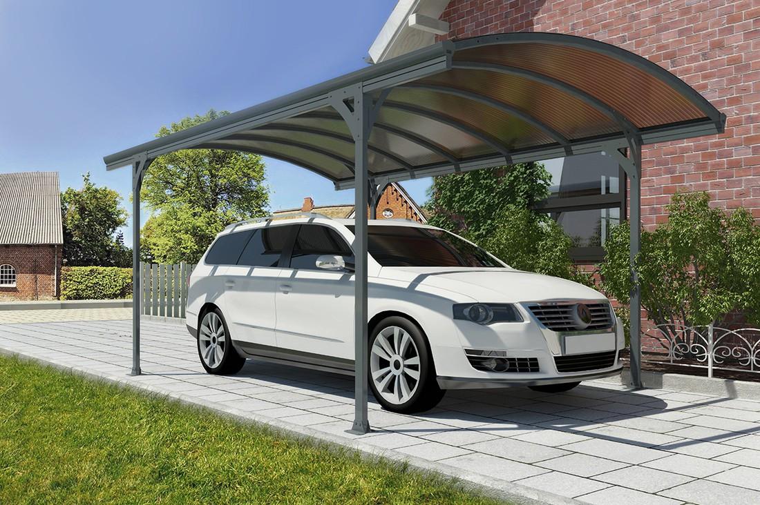 "9'6"" X 16'4"" Victoria 5000 Steel Carport W/ Polycarbonate Panels"