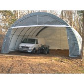30' X 30' X 15' Round Style Three Car Garage