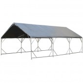 """18' X 50' / 1 5/8"""" Reinforced Canopy Tent with Valance Top"""