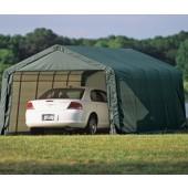 "15' X 28' X 12' / 2 3/8"" Peak Style Portable Garage"