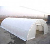 """30'X65'X15' / 2 3/8"""" Commercial Round Building Canopy"""