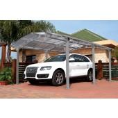 "11'1"" X 16'6"" Arcadia 5000 Steel Car Port W/ Polycarbonate Panels"