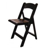 Black Resin Folding Chair - 4 Units