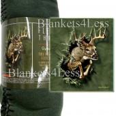 Breakthrough Deer Camping Fleece Throw Blanket