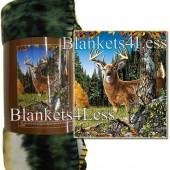 Finding 9 Deers Camping Fleece Throw Blanket
