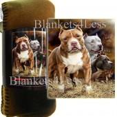 Pitbull Camping Fleece Throw Blanket