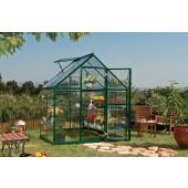 6' X 4' Harmony - Clear Glazing GreenHouse Green
