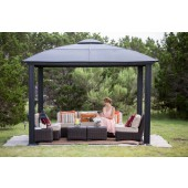 STC 12ft X 12ft Siena Gazebo with Hard Top Roof