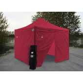 Impact 10' X 10' AOL with 4 Sidewalls Package Deal - Red