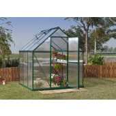 6' X 6' Mythos - TwinWall Glazing GreenHouse Green