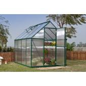6' X 8' Mythos - TwinWall Glazing GreenHouse Green