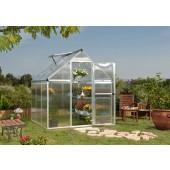 6' X 6' Mythos - TwinWall Glazing GreenHouse Silver